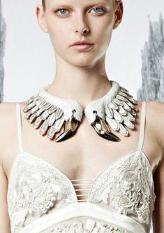 Bird Feather Flamingo Necklace - roberto cavalli statement jewellery