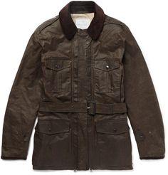 Kingsman - + Mackintosh Merlin Corduroy-Trimmed Waxed-Cotton Field Jacket