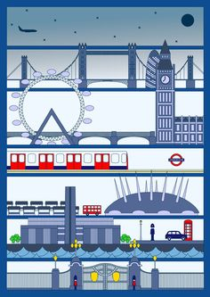 I want this print - I love how linear it is, and the gray-blues, and story it tells about the layers of London