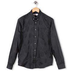 Shirt Oxford Jacquard Maxi Peas Black by AMI - Alexandre Mattiussi