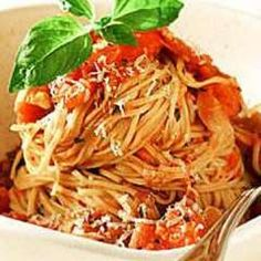 Wolfgang Puck's Angel Hair Pasta with Fresh Tomato, Basil, and Garlic