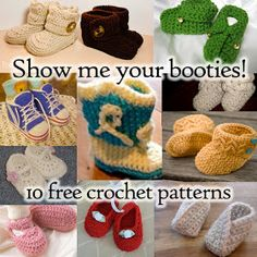 10 baby bootie patterns. I want to make this for my best friend's baby.