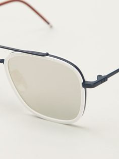 344052d112a Thom Browne Square Frame Mirrored Sunglasses - Firis - Farfetch.com Cool  Glasses