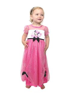 5660823e2c Your little one will be as adorable as Minnie in this Yankee Toy Box  exclusive Disney Minnie Mouse fantasy nightgown pajama!
