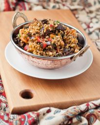 Roast Vegetable & Freekeh Salad - she cooks, she gardens