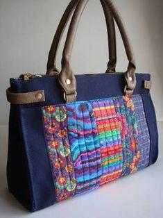 Resultado de imagem para bolsas feitas de tecido