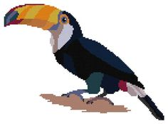 Cross stitch pattern Toucan counted cross stitch toucan