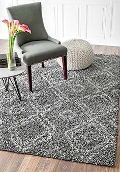 Cozy Soft and Plush Moroccan Trellis White/ Grey Shag Rug, 8 Feet by 10 Feet (8' x 10') Rugs USA http://smile.amazon.com/dp/B00XM0TN12/ref=cm_sw_r_pi_dp_BOtvwb11MVPJZ