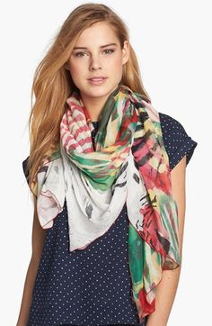 Nordstrom 'Camo Zebra' Scarf available at #Nordstrom // a beautiful, lightweight summer scarf