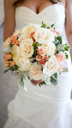 Style of bouquet but not apricot anymore.