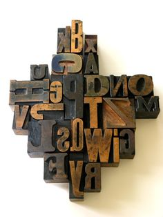 A to Z - 26 Vintage Letterpress Wooden Alphabets