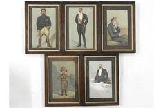 Five various Vanity Fair prints, in oak frames, comprising two Boer leaders, Christian De Wet and The Saleroom, Vanity Fair, Frames, Auction, Christian, Prints, Home Decor, Decoration Home, Room Decor