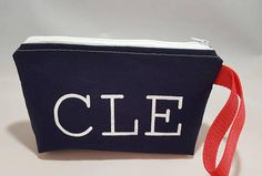 Cotton Wristlet Clutch Cleveland Check out this item in my Etsy shop https://www.etsy.com/listing/555515925/cleveland-wristlet