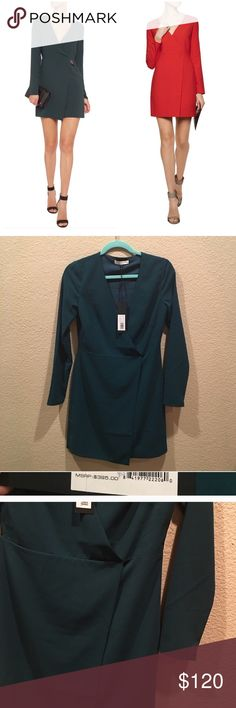 Halston Heritage Wrap-effect Crepe Mini Dress Halston Heritage Halston Heritage Woman Wrap-effect Crepe Mini Dress, super cute! Minor store wear. I just purchased it from another Poshmark seller, just doesn't fit me :( offers accepted Halston Heritage Dresses Mini