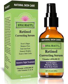 The Best Organic Retinol Serum for Face by Joyal Beauty. Anti-Wrinkles, Minimize Pores, Remove Blemishes, Even Tones, Tighten Skin, Treat Acne Scars. The Safest and Bioactive Retinol Serum. *** Quickly view this special  product, click the image : Skin care