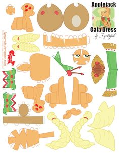 Applejack Gala Dress Printout by FyreWytch on deviantART