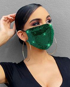 Diy Mask, Diy Face Mask, Face Masks, Mouth Mask, Fashion Face Mask, Mask Design, Go Shopping, Fashion Accessories, Sequins