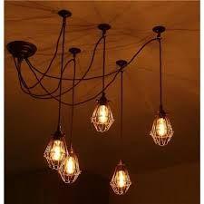 Image result for vintage cluster cage lights