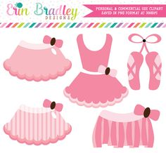 Pink Tutus Clipart – Erin Bradley/Ink Obsession Designs