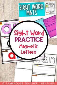 Are you looking for sight word practice for your students? These sight word practice mats support building your student's recognition of high frequency words. Sight Word Practice Mats - Play-dough - Writing - Magnetic Letters.