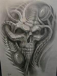 biomechanical tattoo drawings - Bing images