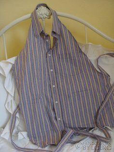 Make an apron from a men's dress shirt