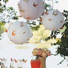 Cute DIY butterflies decoration for garden party or wedding