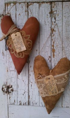 Primitive Hearts designed and made by Rabbit Ridge Primitives
