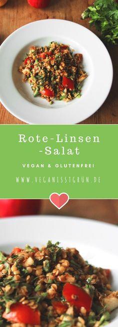 Rote-Linsen-Salat vegan und glutenfrei mit Petersilie-min