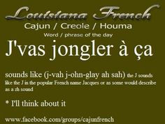French Cajun words