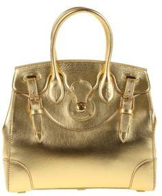 8b119a0169 ralph lauren gold handbag