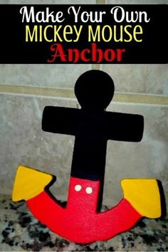 Mickey Mouse Anchor Craft