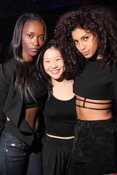 Riley Montana, Sophia Li and Imaan Hammam   - HarpersBAZAAR.com