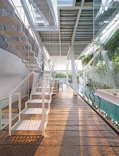The Slanted House by Budi Pradono Architects