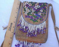 Native American Vintage Bag Athabaskan Hand Made Extensive Beading Circa 1950s