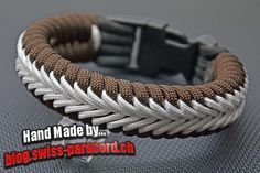 Center Stitched Fishtail paracord bracelet - make with custom cored 550 & fishing braid