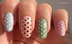 pastel with dots