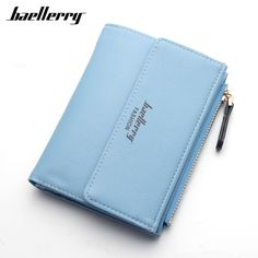 High Quality PU Leather Wallets Women Lovely Letter Priting Zipper & Clasp Coin Pocket Short Purse Clutch Small Wallet Female  #Affiliate