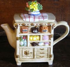 Whittard Tea Shop Decorative Ceramic Tea Cart Teapot | eBay