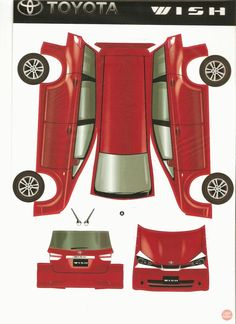 Image detail for -Car - Toyota WISH - Paper Model (Japan) (TOY) (DIY KIT) @ Raffles ...