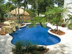 Bring a little 'Aloha' to your backyard with Blue Hawaiian Fiberglass pools! Skip the airfare and just relax instead.