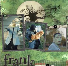 Halloween, Frankenstein Scrapbook Layout
