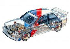 1987 BMW Group-A M3 DTM (E30) que compite con la raza m-3 interior del motor f fondo de pantalla