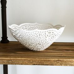 Carved Fruit Bowl by Isabelle Abramson Ceramics Available Work