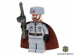 Custom LEGO(c) Military Minifigure - WWII Russian Soldier (winter) by CombatBrick.com. $23.00 Lego Soldiers, Lego Ww2, Lego Army, Lego Military, Military Figures, Military Diorama, Cool Lego, Awesome Lego, Lego Decals