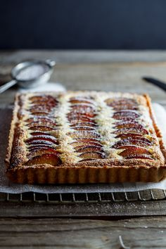 plum frangipane tart | simply delicious...My Mom made this every Fall with Italian prune plums delish!!