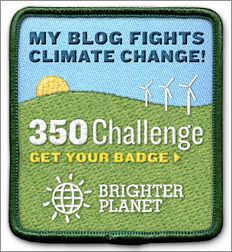 Brighter Planet and 350.org Challenge Bloggers to Offset Carbon Emissions With Onsite Badge : TreeHugger