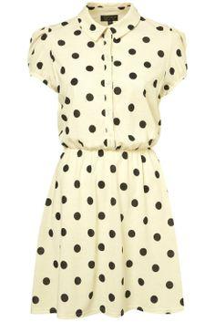 cream dot spot dress