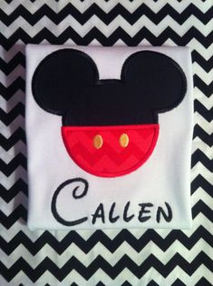 Cute Little Boys Mickey Mouse Applique Shirt by RufflesAndRascals, $25.00