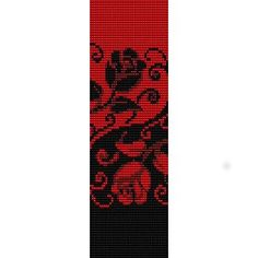 This realy inspiring me. Whit other colors and my own pattern maybe...(YIN YANG ROSES  - LOOM beading pattern for cuff bracelet SALE)